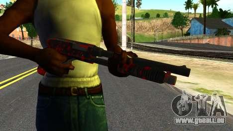Shotgun with Blood pour GTA San Andreas troisième écran