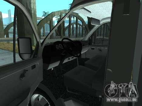 GAZel 3302 pour GTA San Andreas vue arrière