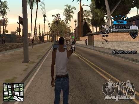 C-HUD Old Legend pour GTA San Andreas deuxième écran