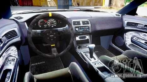 Nissan Silvia S14 Kouki Hellaflush pour GTA 4 est une vue de l'intérieur