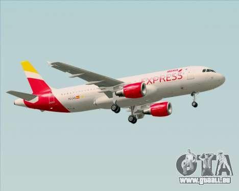 Airbus A320-200 Iberia Express für GTA San Andreas Rückansicht