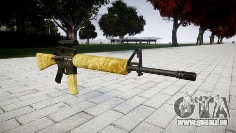 Die M16A2 Gewehr [optisch] gold für GTA 4