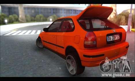 Honda Civic HB (JDM Family) pour GTA San Andreas sur la vue arrière gauche