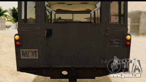 Land Rover Series IIa LWB Wagon 1962-1971 [IVF] für GTA San Andreas Rückansicht