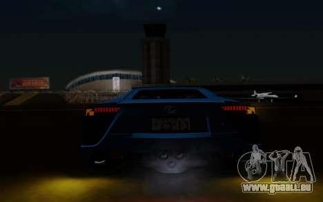 Lexus LF-A 2010 pour GTA San Andreas vue de dessus