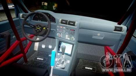 BMW E30 M3 pour GTA 4 est une vue de l'intérieur