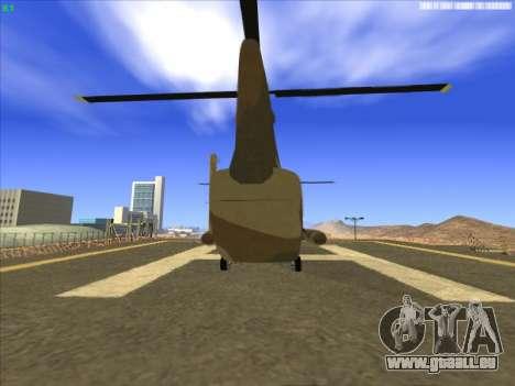 GTA 5 Cargobob für GTA San Andreas zurück linke Ansicht
