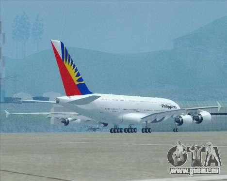 Airbus A380-800 Philippine Airlines pour GTA San Andreas vue de dessus