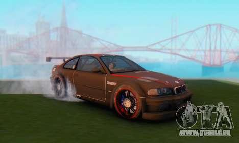BMW M3 GTR pour GTA San Andreas sur la vue arrière gauche