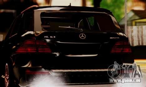 Mercedes-Benz ML63 AMG pour GTA San Andreas vue arrière
