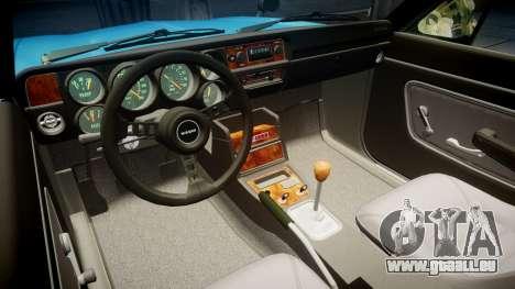 Nissan Skyline 2000GT pour GTA 4 Vue arrière