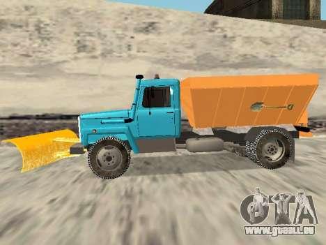 GAZ 3309 Schnee für GTA San Andreas zurück linke Ansicht