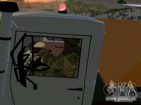 GAZ 3309 Neige pour GTA San Andreas vue de côté