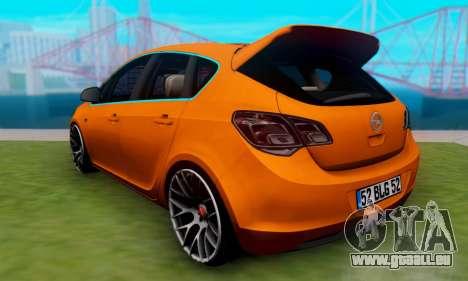 Opel Astra J Team pour GTA San Andreas laissé vue