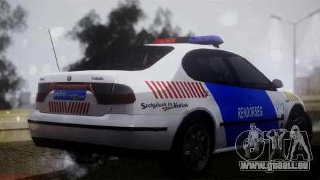 Seat Toledo 1999 Police pour GTA San Andreas laissé vue