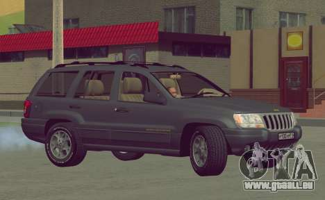 Jeep Grand Cherokee WJ pour GTA San Andreas vue intérieure