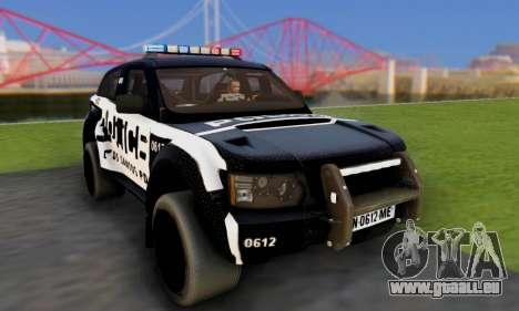 Bowler EXR S 2012 v1.0 Police pour GTA San Andreas vue arrière