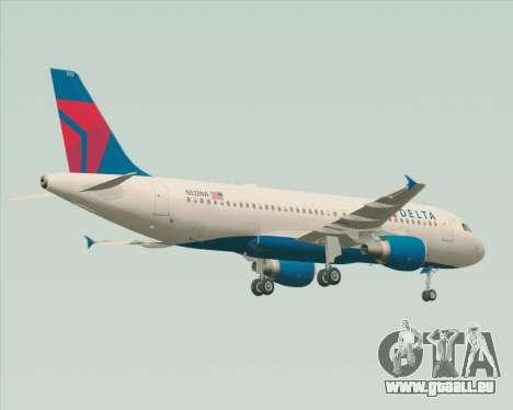 Airbus  A320-200 Delta Airlines für GTA San Andreas Rückansicht