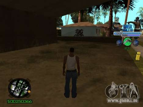 С-Hud Tawer-Ghetto v1.6-Classic für GTA San Andreas dritten Screenshot
