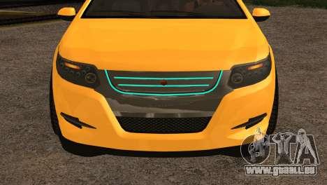 Cheval Surge 1.1 (IVF) pour GTA San Andreas sur la vue arrière gauche