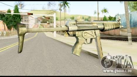 MP5 avec Décomposé Cul pour GTA San Andreas deuxième écran
