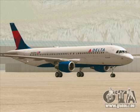 Airbus  A320-200 Delta Airlines für GTA San Andreas linke Ansicht