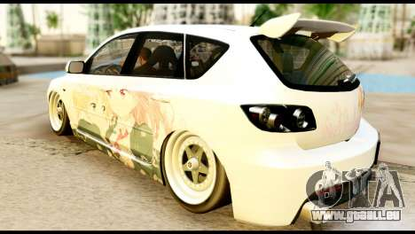 Mazda Speed 3 [Sakura Trick Itasha] für GTA San Andreas linke Ansicht