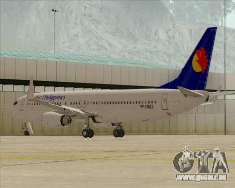 Boeing 737-800 Air Philippines für GTA San Andreas Innenansicht