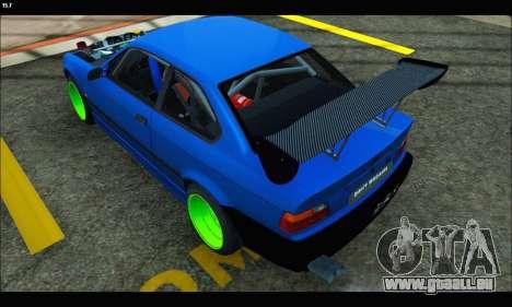 BMW e36 Drift Edition Final Version pour GTA San Andreas laissé vue