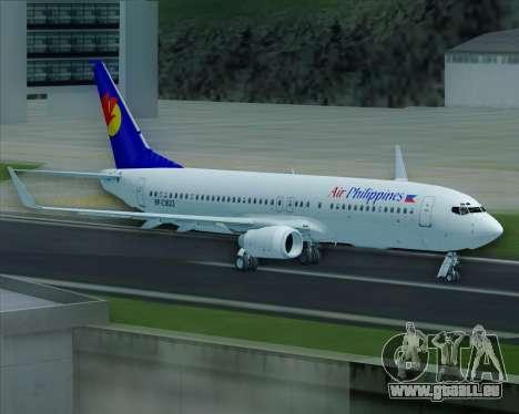 Boeing 737-800 Air Philippines für GTA San Andreas Räder
