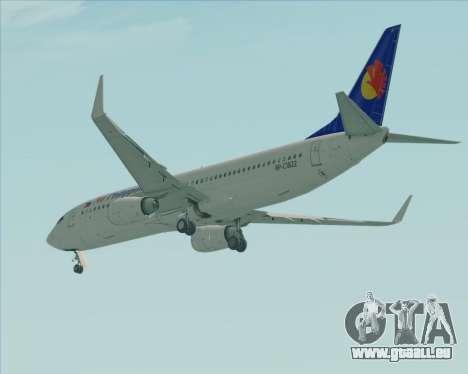 Boeing 737-800 Air Philippines pour GTA San Andreas vue de droite
