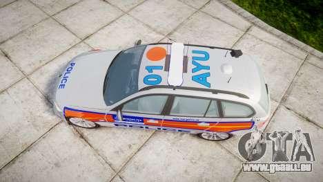 BMW 325d E91 2009 Metropolitan Police [ELS] pour GTA 4 est un droit