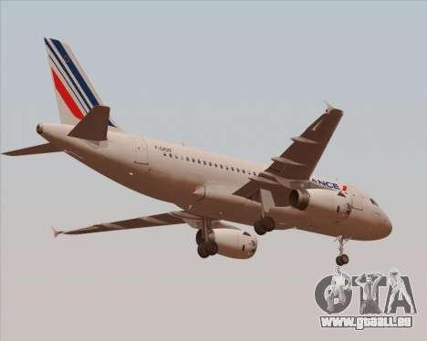 Airbus A319-100 Air France für GTA San Andreas Rückansicht