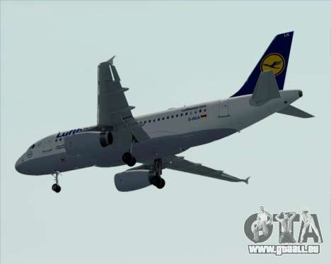 Airbus A319-100 Lufthansa pour GTA San Andreas vue de dessus