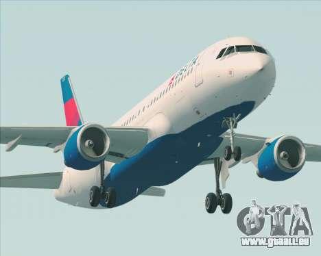 Airbus  A320-200 Delta Airlines für GTA San Andreas Räder