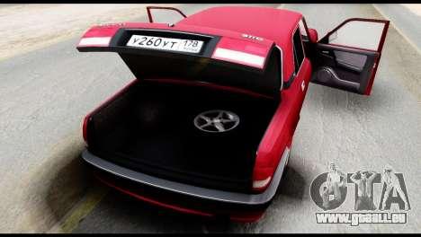 GAZ 3110 Volga für GTA San Andreas Innenansicht