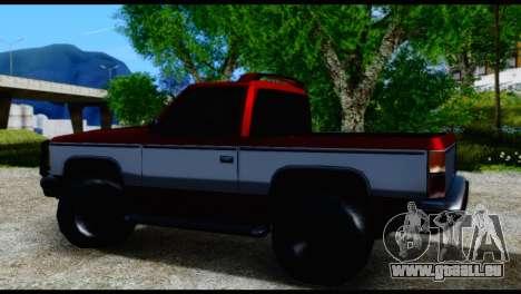 Rancher Hunter pour GTA San Andreas sur la vue arrière gauche