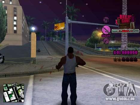C-HUD Ballas TAWER für GTA San Andreas zweiten Screenshot