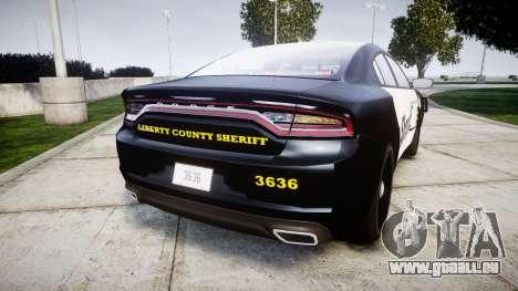 Dodge Charger 2015 County Sheriff [ELS] pour GTA 4 Vue arrière de la gauche