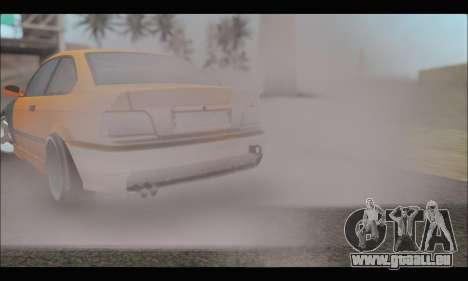 BMW e36 Drift für GTA San Andreas Innenansicht