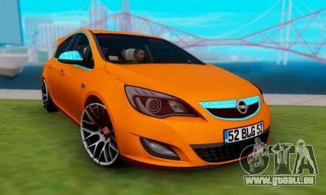 Opel Astra J Team pour GTA San Andreas