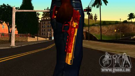 Christmas Desert Eagle für GTA San Andreas dritten Screenshot