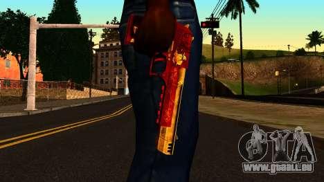 Noël Desert Eagle pour GTA San Andreas troisième écran