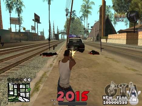 CLEO HUD New Year 2015 für GTA San Andreas dritten Screenshot