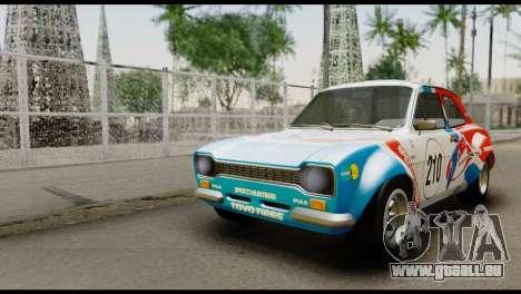 Ford Escort Mark 1 1970 pour GTA San Andreas vue de dessus
