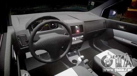 Hyundai Getz 2006 pour GTA 4 est une vue de l'intérieur