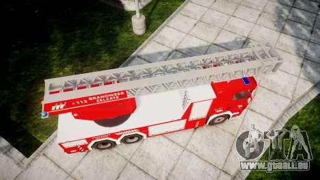 Scania R580 Belgian Fireladder [ELS] für GTA 4 rechte Ansicht