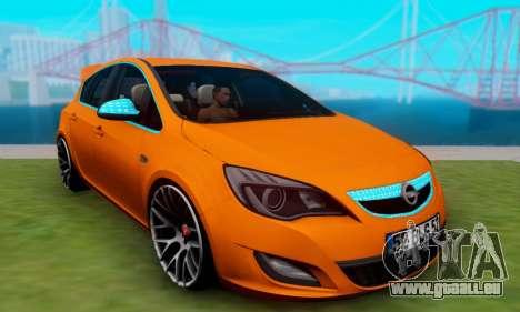 Opel Astra J Team für GTA San Andreas zurück linke Ansicht