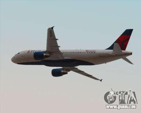Airbus  A320-200 Delta Airlines pour GTA San Andreas vue de dessous