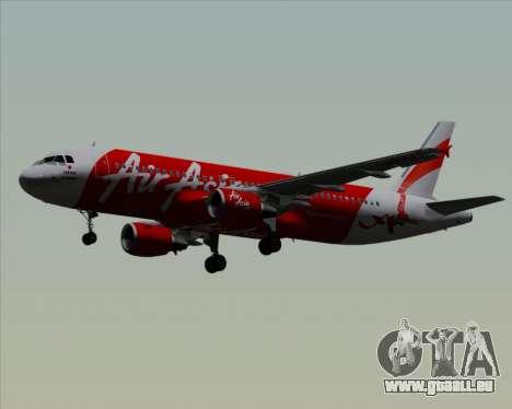 Airbus A320-200 Air Asia Japan für GTA San Andreas zurück linke Ansicht